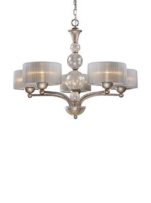 Artistic Lighting Alexis 5-Light Chandelier, Antique Silver