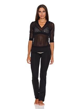 Adriana Arango Conjunto de Top, Camiseta y Pantalón (Negro)