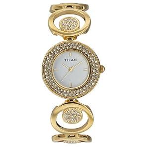 Titan Purple Analog White Dial Women's Watch - NC9846YM01J