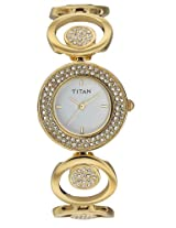 Titan Purple Analog White Dial Women's Watch - NC9846YM01J