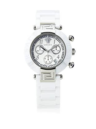 Versace Women's 95CCS1D497 SC01 Reve Mother-Of-Pearl Dial Chronograph White Ceramic Bracelet Watch
