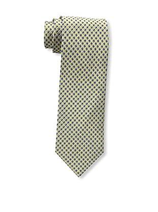 Bruno Piattelli Men's Neat Silk Tie, Gold Navy