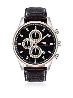 Rhodenwald & Söhne Uhr mit japanischem Quarzuhrwerk 10010104 schwarz 43  mm