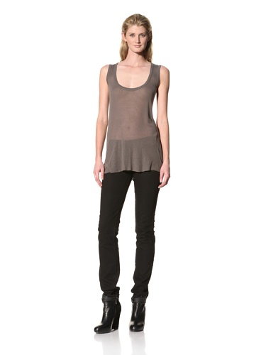RICK OWENS Women's Light Rib Tank (Darkdust)