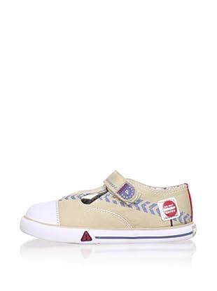 Pablosky Kid's T-Strap Sneaker (Beige)