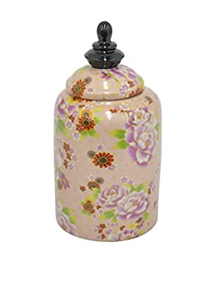 Three Hands Ceramic Floral Jar, Blush Multi
