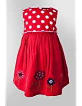 Nauti Nati Red Cotton Dress Naw13-091
