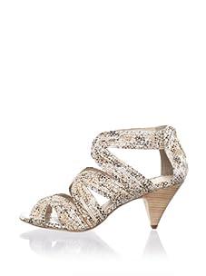Rebecca Minkoff Women's Tease Ankle-Strap Sandal (Metallic Snake)