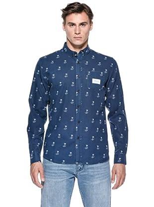 Rip Curl Camicia It L/S Printed Shirt (Blu)