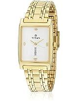Ne1165Ym01 Gold/White Analog Watch