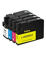 Generic Replacement 4 Ink Cartridges Compatible with Lexmark 200XL Pro4000 Pro5500 Pack of 4