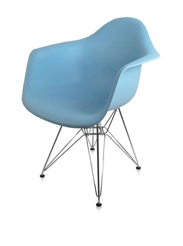 Mid-Century Eiffel Dining Arm Chair (Blue)