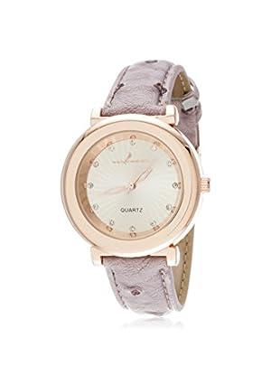 Via Nova Women's NWL310492Q-PU Purple/White Leather Watch