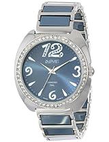 August Steiner Women's AS8066GY Swiss Quartz Diamond & Crystal Grey Ceramic Bracelet Watch