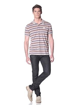 Façonnable Men's Multi-Stripe Polo (Beige Multi)
