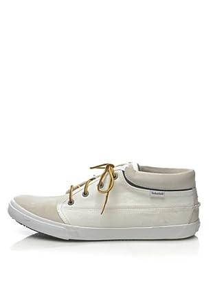 Timberland CA Hookset Camp FTM Plain Toe Chukka 65198 Herren Sneaker (Weiss/White Canvas)