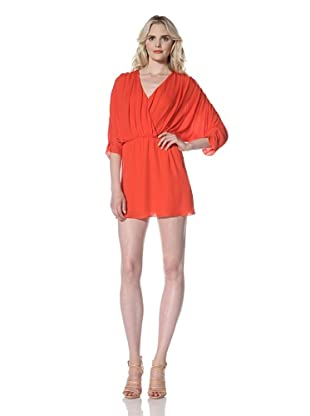 Parker Women's Short Ruched Dress (Red)