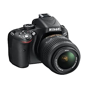 Nikon D5100 16.2MP Digital SLR Camera (Black) with AF-S 18-55mm VR Lens, 4GB Card, Camera Bag