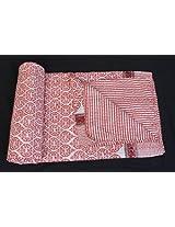 Worldoftextile Kantha Bedcover Vintage Reversible Bedspread Decorative Vintage Cotton Bed Cover Throw