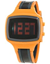 Activa By Invicta Unisex AA400-015 Black Digital Dial Orange, Charcoal Grey and Black Polyurethane Watch