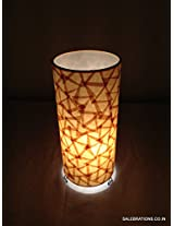 Salebrations Table Tower Lamp - Shoji Paper With Triangle Design 7