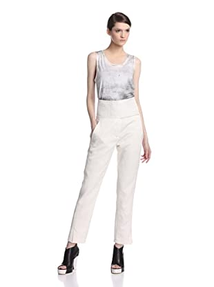 Ann Demeulemeester Women's Fence Trousers (Off white)