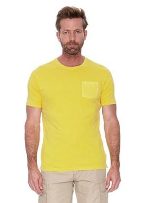 Cortefiel Camiseta Básica Tintada (Amarillo)