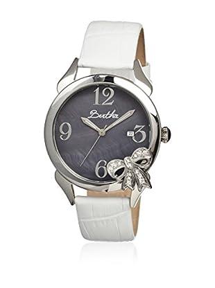 Bertha Uhr mit Japanischem Quarzuhrwerk Bow weiß 41 mm