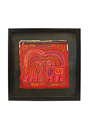 Uptown Down Vintage Framed Tribal Textile Art, Multi