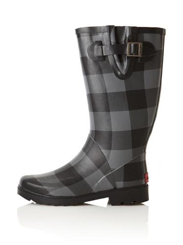 Chooka Women's Buffalo Bone Rain Boot (Charcoal)