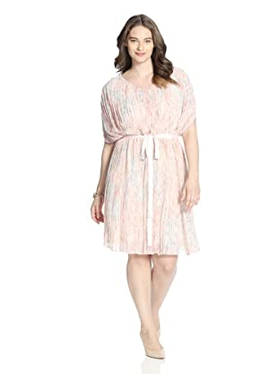 Jessica Simpson Women's Pleated Chiffon Dress (Apricot Wash)