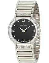 Claude Bernard Women's 20080 3P NP Classic Ladies Black Dial Crystal Watch