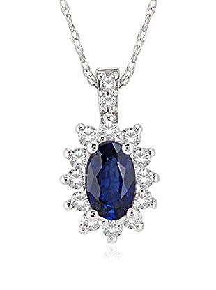 Divas Diamond Conjunto de cadena y colgante Diamond Sapphire
