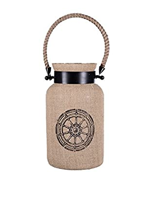 Home Essentials Plymouth Lantern with Captain's Wheel Design