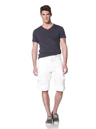 Darring Men's Formula 1 Cargo Short (White)