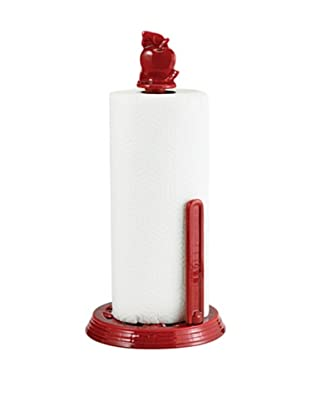 Old Dutch International Two-Tone Apple Standing Towel Holder, Red