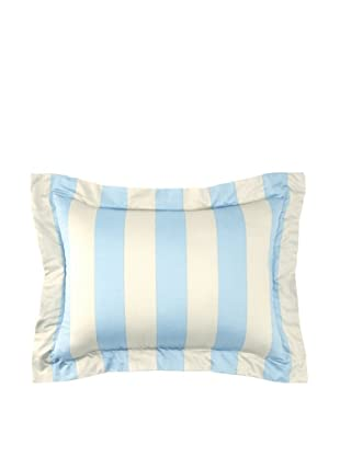 Image by Charlie Azure Decorative Pillow, Aqua/Off-White, 13