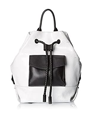 L.A.M.B. Women's Gracie Backpack, White Crackle