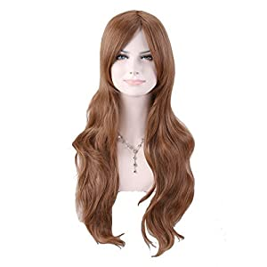 Western Women's Charming Long Curly Wig (Model: Jf010485) (Light Brown)