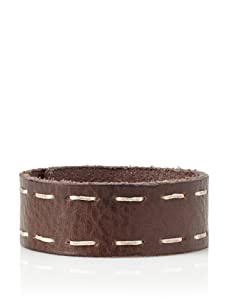 Will Leather Goods Unisex High Side Leather Cuff (Brown)