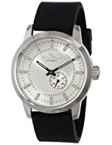 Lucien Piccard Men's LP-12550-02S-BK Silver Dial Black Silicone Automatic Watch
