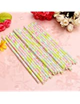 25Pcs Biodegradable Paper Flower Floral Drinking Straws Birthday Party Wedding (#1)