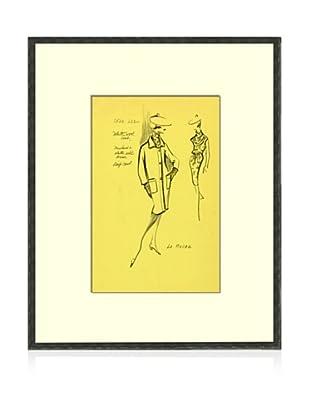 Print of La Roche Women's Fashion Sketch Circa 1968