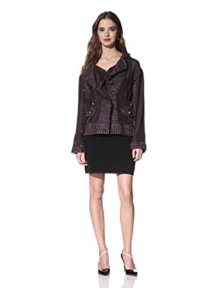NINA RICCI Women's Tweed Jacket (Lilac Grey Tweed)