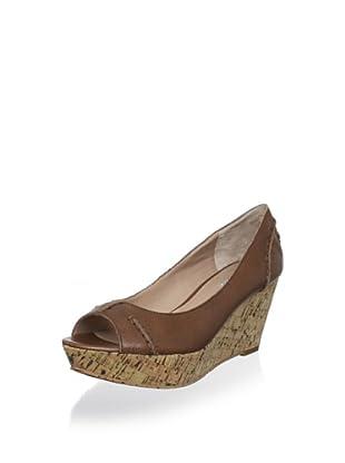 Charles David Women's Estate Peep-Toe Cork Platform (Cinnamon Leather)