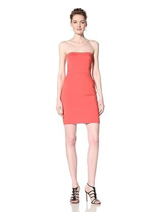 Vera Wang Lavender Women's Seamed Strapless Dress (Lipstick)