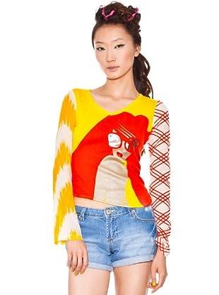Custo Camiseta Solange (Rojo / Amarillo)