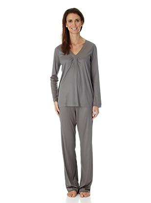 Hanro Pyjama lA Elba (Grau)