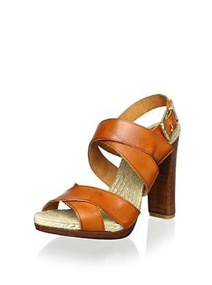 Schutz Women's Crisscross Sandal (Clay)
