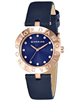 Giordano Analog Blue Dial Women's Watch - 2754-07